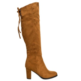 Suede Boots VINCEZA ruskea