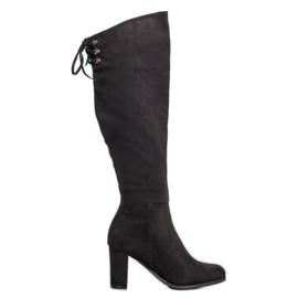 Suede Boots VINCEZA musta