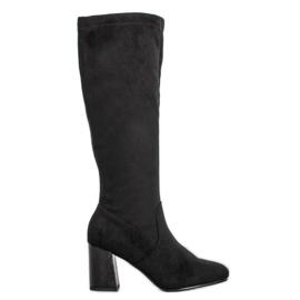 Filippo Tyylikäs Suede Boots musta