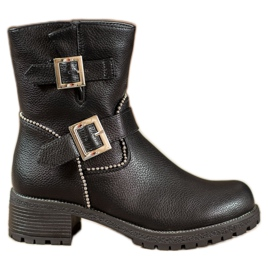 Lucky Shoes Työntekijät soljilla musta