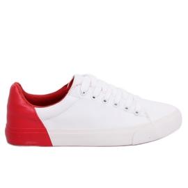 Valkoiset ja punaiset naisten lenkkarit A88-29 W-RED II Type