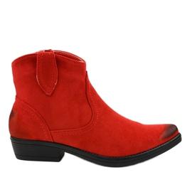 Punaiset litteät naisten K860-cowboy-saappaat punainen