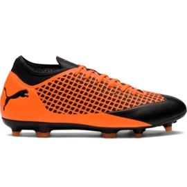 M Puma Future 2.4 Fg Ag 104839 02 jalkapallokengät oranssi musta, oranssi