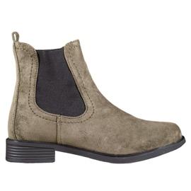 Ideal Shoes Rento Jodhpur-saappaat vihreä