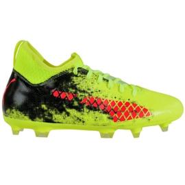 Puma Future 18.3 Fg Ag Jr 104332 01 jalkapallokengät vihreä musta, punainen, vihreä