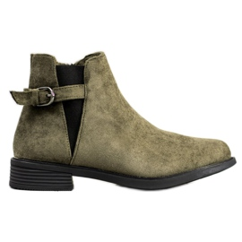 Ideal Shoes Suede Boots vihreä