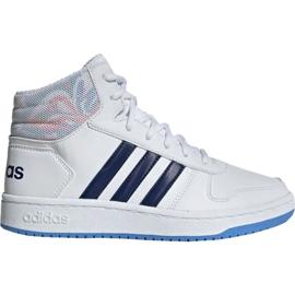 Adidas Hoops Mid 2.0 Jr EE8546 kengät valkoinen
