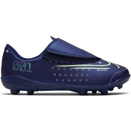 Nike Mercurial Vapor 13 Club Mds Mg PS (V) Jr CJ1149 401 jalkapallokengät laivasto tummansininen