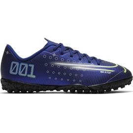 Nike Mercurial Vapor 13 Club Mds Ic Jr CJ1174 401 jalkapallokengät tummansininen laivasto