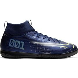 Nike Mercurial Superfly 7 Academy Mds Ic Jr BQ5529 401 jalkapallokengät laivasto tummansininen