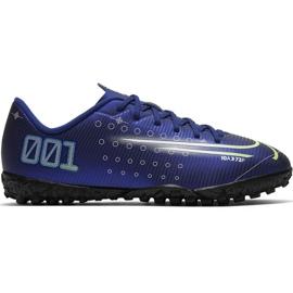 Nike Mercurial Vapor 13 Academy Mds Tf Jr CJ1178 401 jalkapallokengät laivasto tummansininen