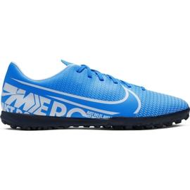 Nike Mercurial Vapor 13 Club M Tf AT7999 414 jalkapallokengät sininen sininen