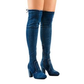 Klassiset denim-saappaat HX15135-3B sininen