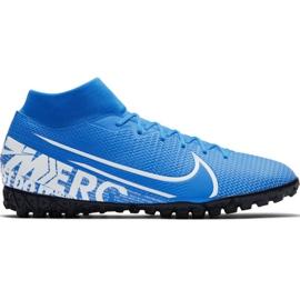 Nike Mercurial Superfly 7 Academy M Tf AT7978 414 jalkapallokengät valkoinen, sininen sininen