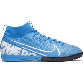 Nike Mercurial Superfly 7 Academy Ic Jr AT8135 414 jalkapallokengät sininen valkoinen, sininen
