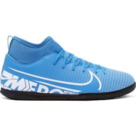 Nike Mercurial Superfly 7 Club Ic Jr AT8153 414 jalkapallokengät valkoinen, sininen sininen