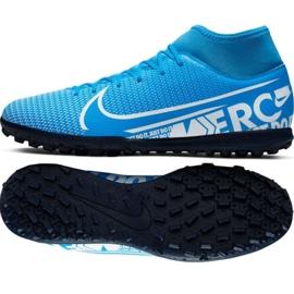 Nike Mercurial Superfly 7 Club M Tf AT7980 414 jalkapallokengät musta musta, harmaa / hopea