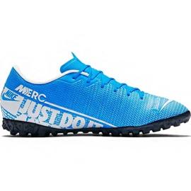 Nike Mercurial Vapor 13 Academy M Tf AT7996 414 jalkapallokengät sininen valkoinen, sininen