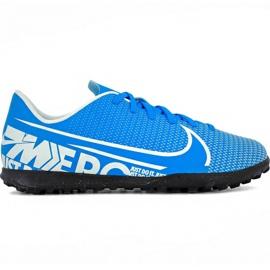Nike Mercurial Vapor 13 Club Tf Jr AT8177 414 jalkapallokengät sininen