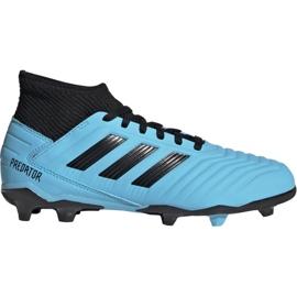 Adidas Predator 19.3 Fg Jr G25796 jalkapallokengät sininen musta, sininen