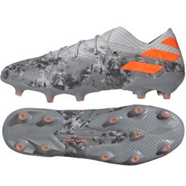 Adidas Nemeziz 19.1 Fg M EF8281 jalkapallokengät harmaa