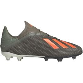 Adidas X 19.2 Fg M EF8364 jalkapallokengät vihreä harmaa