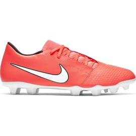 Nike Phantom Venom Club Fg M AO0577 810 jalkapallokengät valkoinen, oranssi oranssi