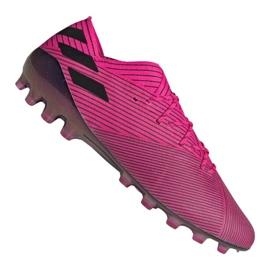 Adidas Nemeziz 19.1 Ag Fg M FU7033 jalkapallokengät pinkki