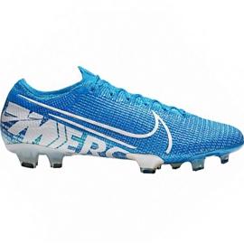 Nike Mercurial Vapor 13 Elite Fg M AQ4176 414 jalkapallokengät valkoinen, sininen sininen