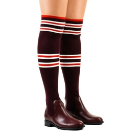 Burgundin reisisaappaat sukka FD-69 punainen