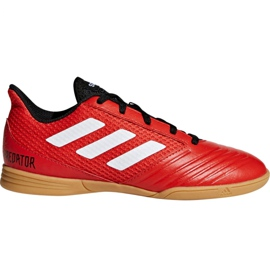 Adidas Predator Tango 18.4 Sala Jr DB2343 jalkapallokengät punainen
