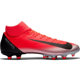 Nike Mercurial Superfly 6 Academy CR7 Mg M AJ3541 600 jalkapallokengät musta, oranssi punainen