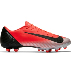 Nike Mercurial Vapor 12 Academy CR7 Mg M AJ3721 600 jalkapallokengät punainen