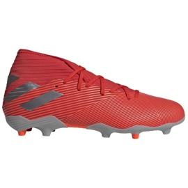 Adidas Nemeziz 19.3 Fg M F34389 jalkapallokengät punainen, harmaa / hopea punainen