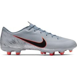 Nike Mercurial Vapor 12 Academy Mg M AH7375 408 jalkapallokengät oranssi, harmaa / hopea harmaa
