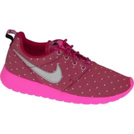 Nike Rosherun Print Gs W kengät 677784-606 pinkki