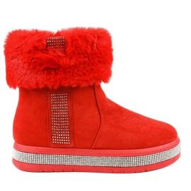 Eristetty punainen mokkanahka Eskimos K-356