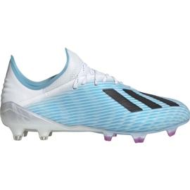 Adidas X 19.1 M Fg F35316 jalkapallokengät valkoinen, sininen sininen