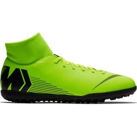 Nike Mercurial Superfly 6 Club Tf M AH7372 701 jalkapallokengät musta, vihreä vihreä
