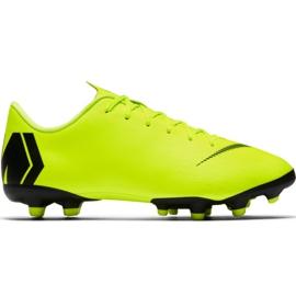 Nike Mercurial Vapor 12 Academy Mg Jr AH7347 701 jalkapallokengät keltainen
