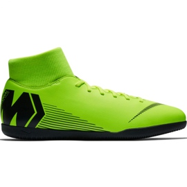 Nike Mercurial Superfly X 6 Club Ic M AH7371 701 jalkapallokengät vihreä