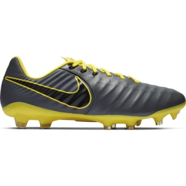Nike Tiempo Legend 7 Pro Fg M AH7241 070 jalkapallokengät musta, keltainen