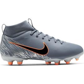 Nike Mercurial Superfly 6 Academy Mg Jr AH7337 408 jalkapallokengät oranssi, harmaa / hopea