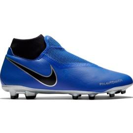 Nike Phantom Vsn Academy Df FG / MG M AO3258 400 jalkapallokengät musta, sininen