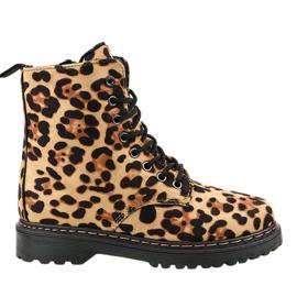 Leopard-eristetyt saappaat DJH01-18
