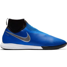Nike React Phantom Vsn Pro Df Ic M AO3276 400 jalkapallokengät musta, sininen