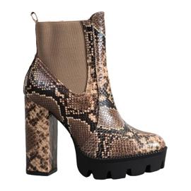 Seastar High Boots Snake Print ruskea