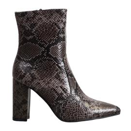 Seastar Snake Print -saappaat ruskea