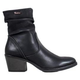 J. Star Cowboy-saappaat, joissa nahkaa musta