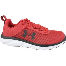 Under Armour Assert 8 Jr 3022100-601 kengät punainen punainen
